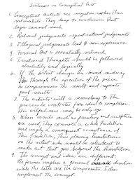 """Sol Lewitt's """"Sentences on Conceptual Art"""""""